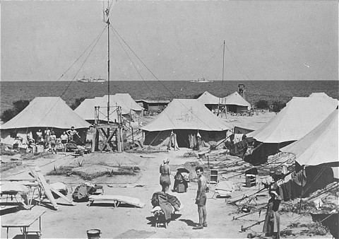 One of the tent camps used to detain Jewish displaced persons denied entry into Palestine by the British. Cyprus, August 1946-February 1949. - American Jewish Joint Distribution Committee