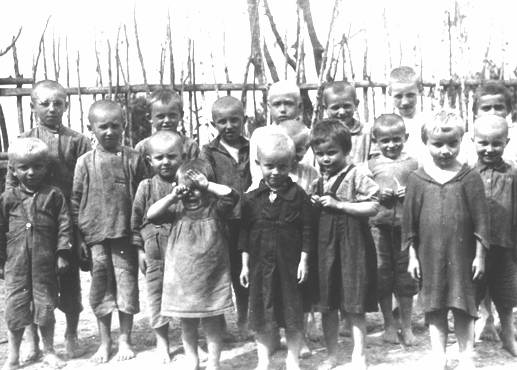 A group of children just before they were executed. - Jewish Virtual Library