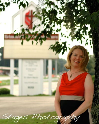 Janine Blakeborough standing in front of RHUMC